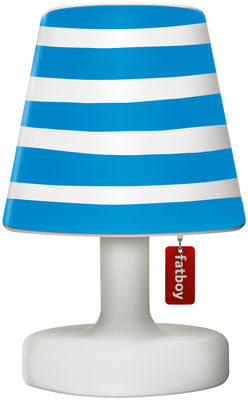Abat-jour Cooper Cappie / Pour lampe Edison the Petit - Fatboy bleu en matière plastique