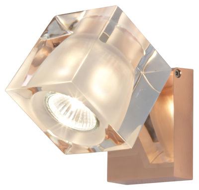 Applique Cubetto - Fabbian cuivre,transparent en verre