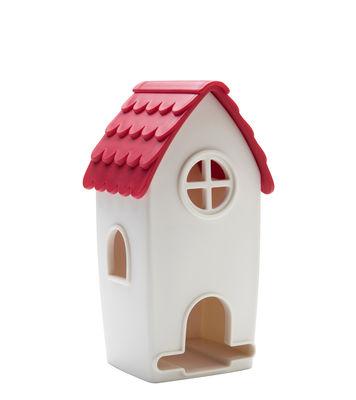 Boîte à thé Tea House - Pa Design blanc,rouge en matière plastique