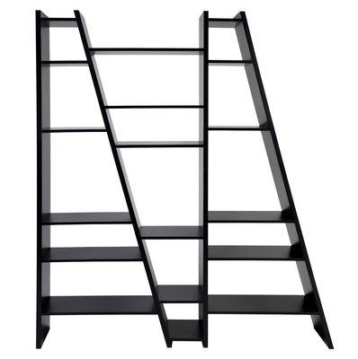 Furniture - Bookcases & Bookshelves - Delta 003 Bookcase - L 170 x H 195 cm by POP UP HOME - Black - Honeycomb panels, Melamine