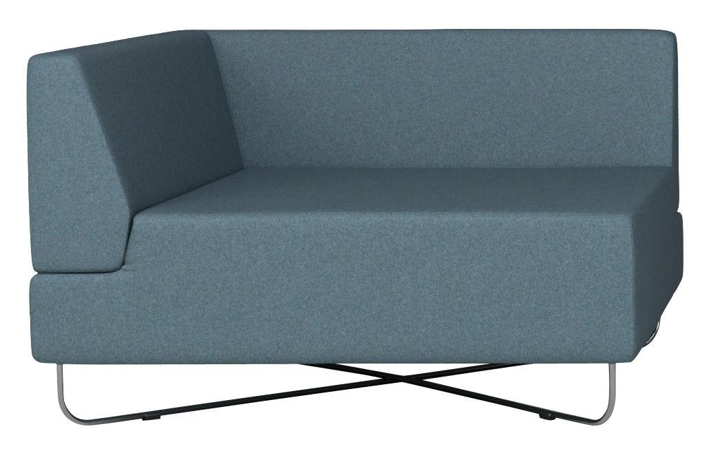 canap modulable orlando module accoudoir gauche module droite bleu bolia made in design. Black Bedroom Furniture Sets. Home Design Ideas