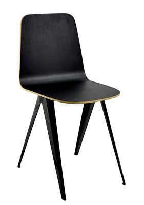 Furniture - Chairs - Sanba Chair - / 40 x 50.5 cm by Serax - Black & gold / Black legs - Melamine, Polyurethane, Steel