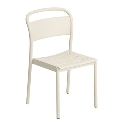 Chaise empilable Linear / Acier - Muuto blanc en métal