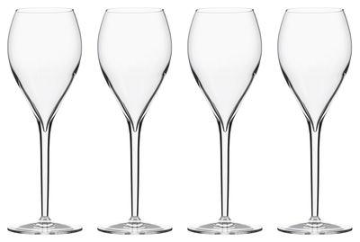 Tableware - Wine Glasses & Glassware - Privé Grand Cru Champagne glass - Set of 6  by Italesse - White wine & Champagne / 33 cl - Glass
