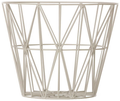 Corbeille Wire Medium / Ø 50 x H 40 cm - Ferm Living gris en métal