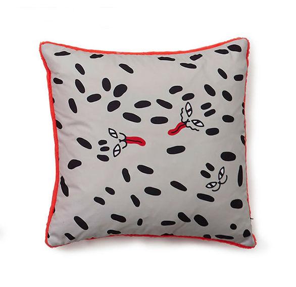 Déco - Coussins - Coussin Flora & Fauna - Dots / 40 x 40 cm - Sancal - Wild Dots / Noir & orange - Microfibre, Polyester