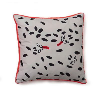 Decoration - Cushions & Poufs - Flora & Fauna - Dots Cushion - / 40 x 40 cm by Sancal - Wild Dots / Black & orange - Microfibre, Polyester