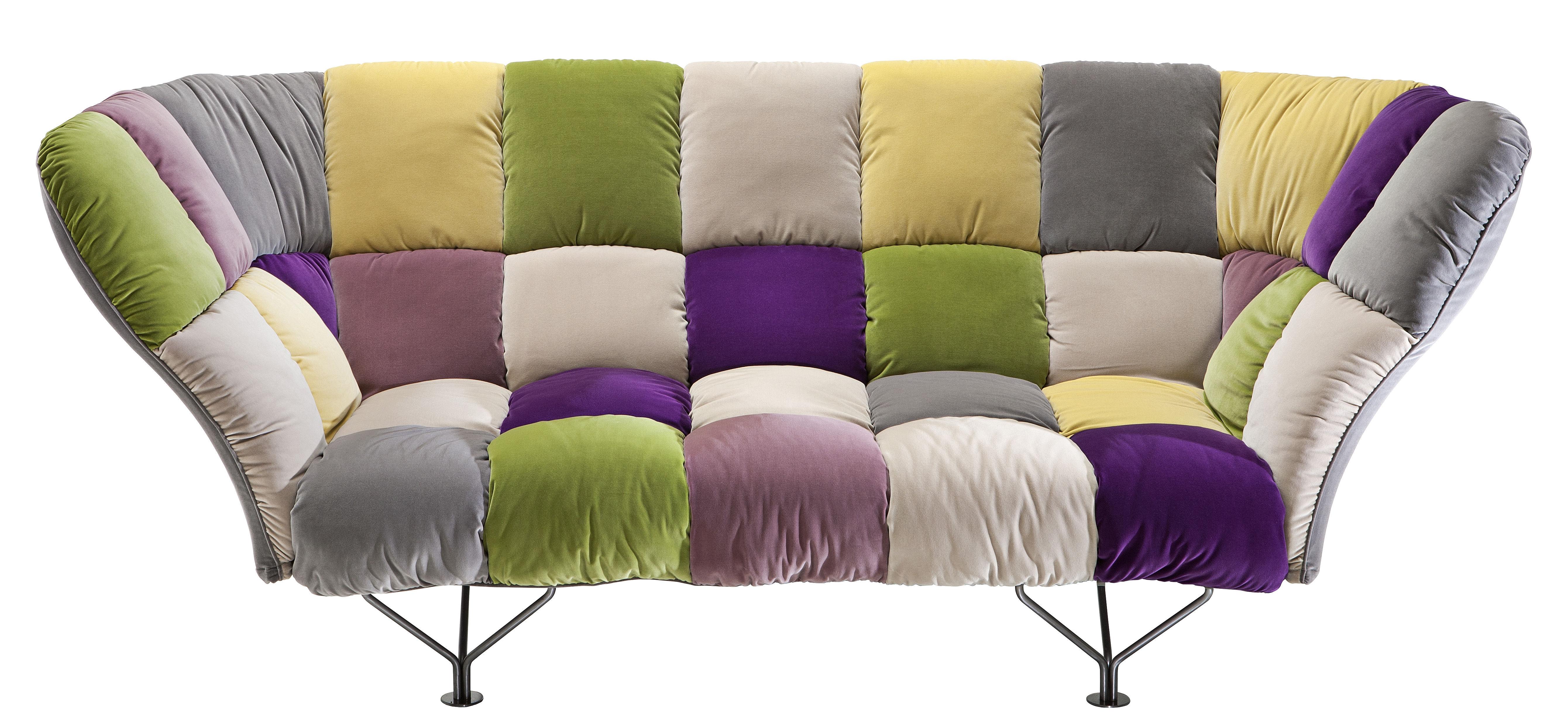 Scopri sof 32 cuscini 3 posti l 255 cm multicolore di driade made in design italia - Cuscini divano design ...