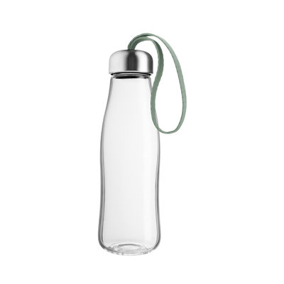 Tableware - Bottles and insulated bottles - Flask - / Glass - 0.5 L by Eva Solo - Faded green - Borosilicated glass, Nylon, Stainless steel