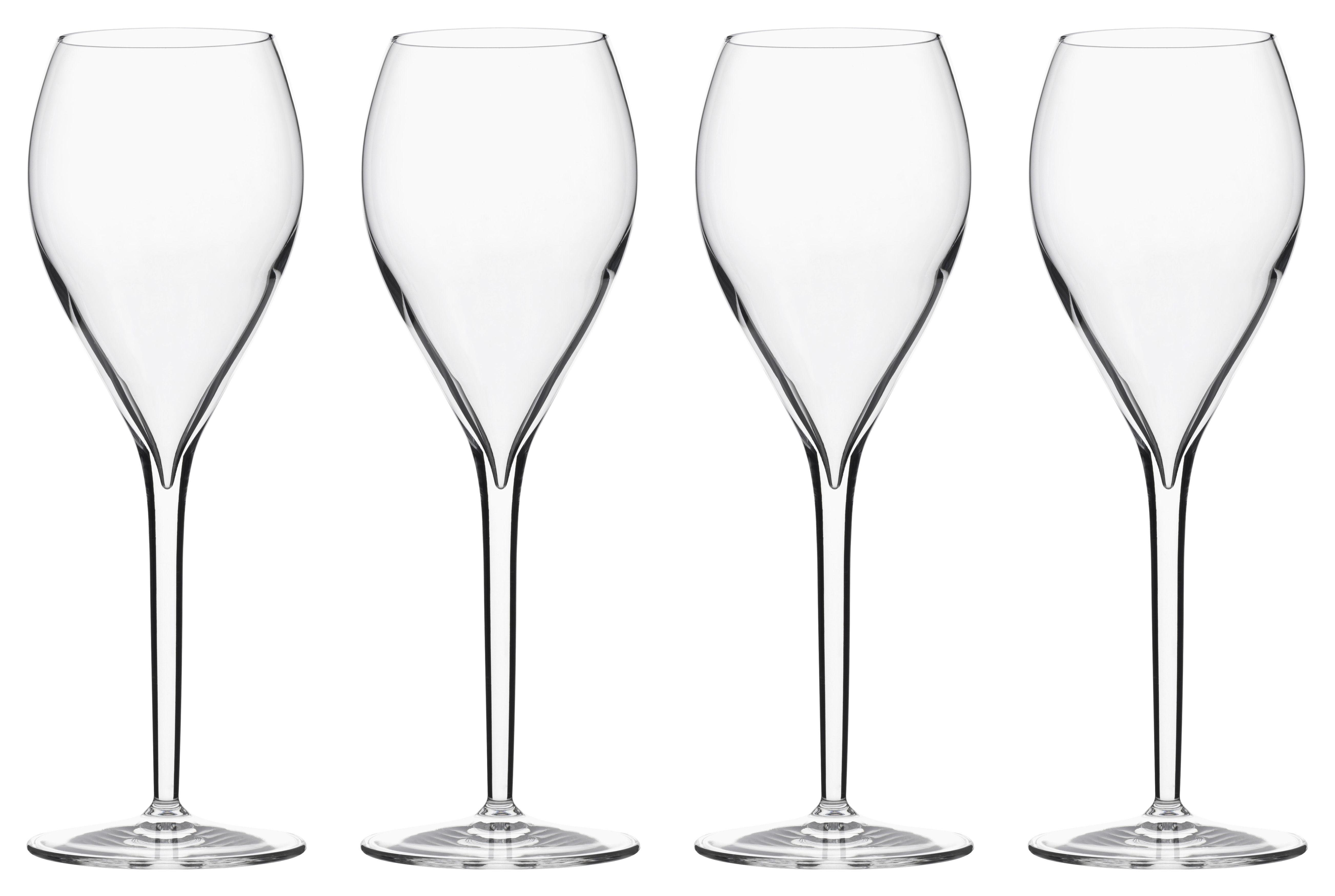 Arts de la table - Verres  - Flûte à champagne Privé Grand Cru / 33 cl - Lot de 6 - Italesse - Transparent - Verre