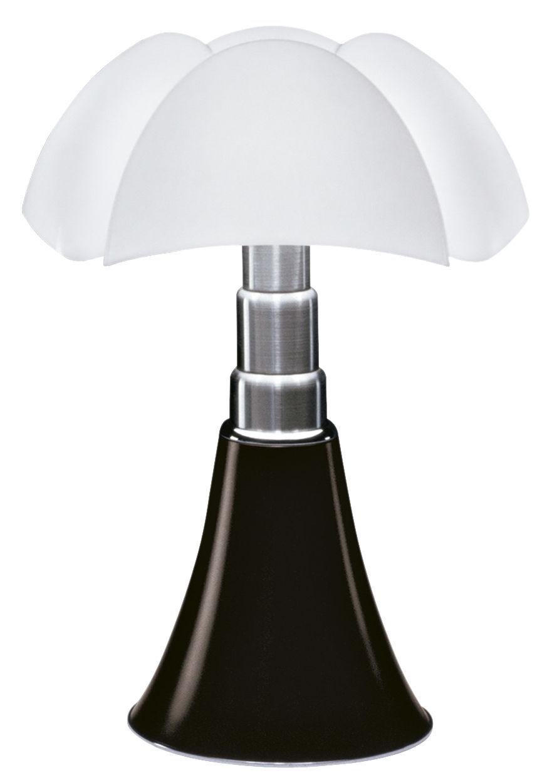 Luminaire - Lampes de table - Lampe de table Pipistrello / H 66 à 86 cm - Martinelli Luce - Marron foncé - Acier galvanisé, Aluminium laqué, Méthacrylate opalin