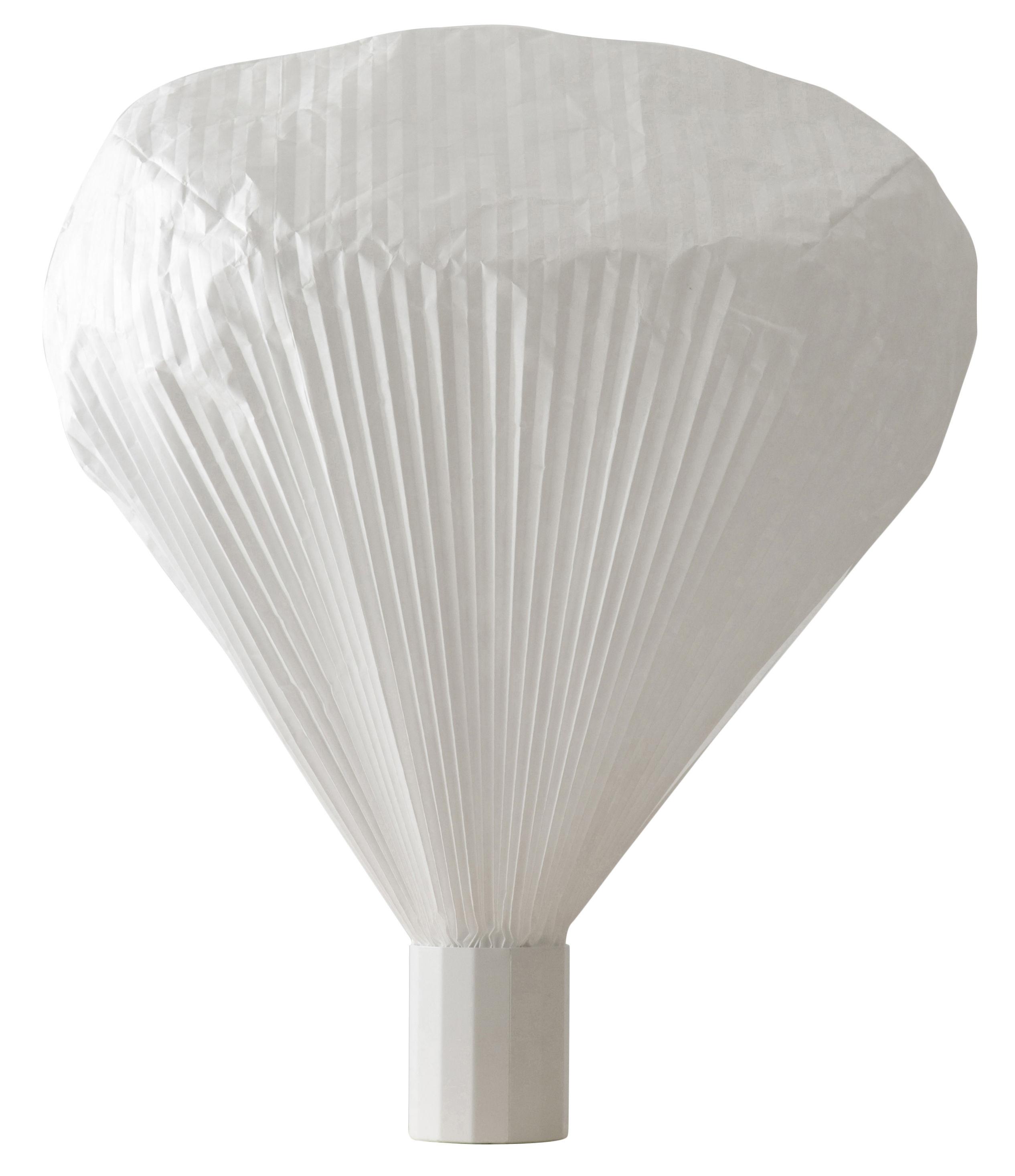 Luminaire - Lampes de table - Lampe de table Vapeur / H 63 cm - Moustache - Base blanche / Diffuseur blanc - Métal laqué, Papier Tyvek