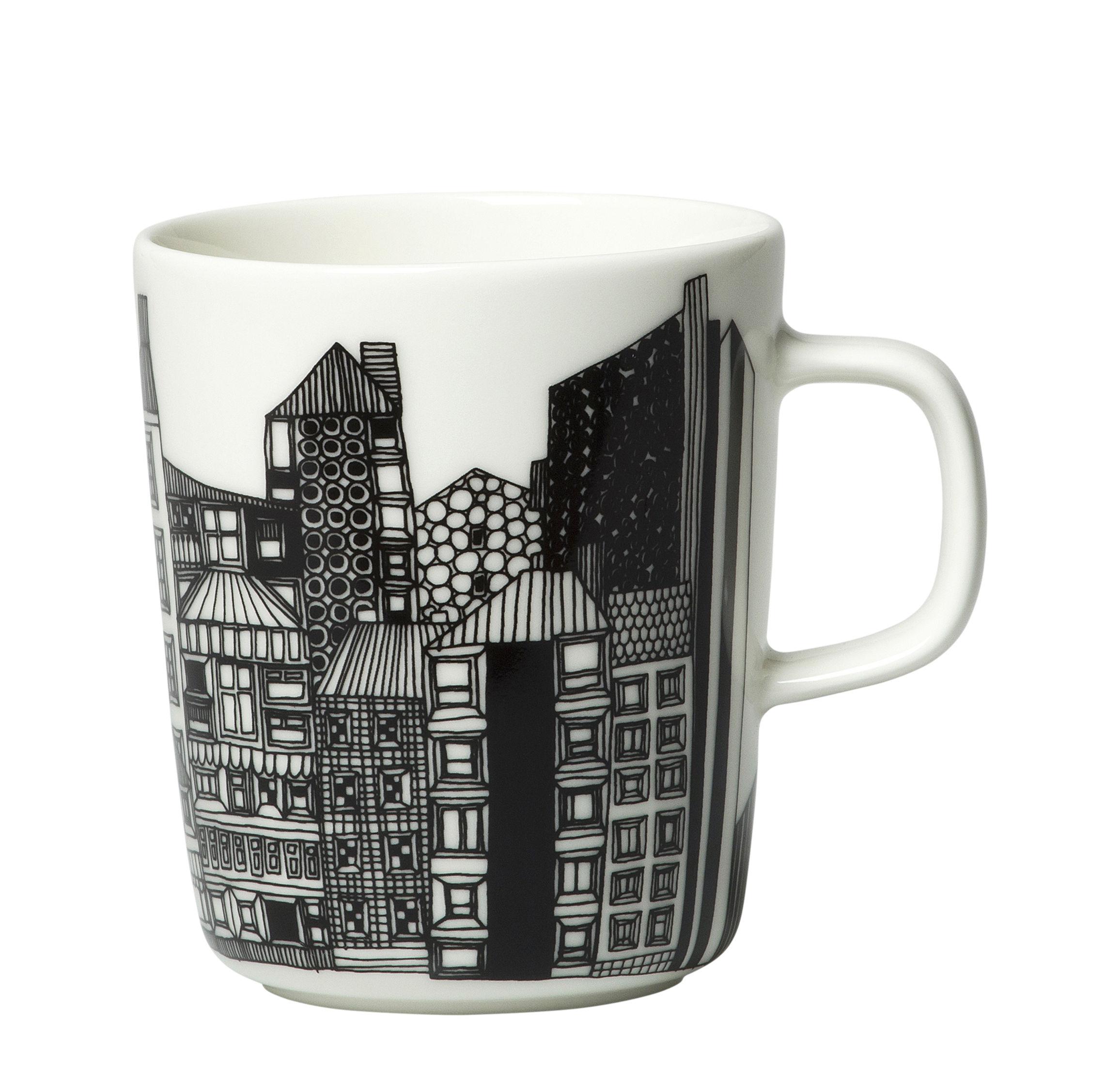 Arts de la table - Tasses et mugs - Mug Siirtolapuutarha / 25 cl - Edition 10ème anniversaire - Marimekko - Siirtolapuutarha / Or, noir & blanc - Grès