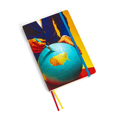 Accessories - Pens & Notebooks - Toiletpaper Notepad - / Globe - Large 21 x 14 cm by Seletti - Globe - Ivory paper, Polyurethane