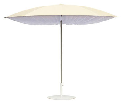 Outdoor - Parasols - Paddo Parasol - Ø 190 cm by Symo - Ø 190 cm - Natural & White flags - Polyester, Steel, Sunbrella fabric