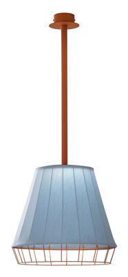 Lighting - Pendant Lighting - Dress Pendant - Outdoor - LED - Ø 50 cm / Exclusivity by Torremato - Orange / Light blue - Acrylic, Painted stainless steel