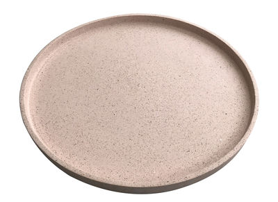 Arts de la table - Plateaux - Plateau Terrazzo / Fait main - Ø 55 cm - Trimm Copenhagen - Rose - Polystone