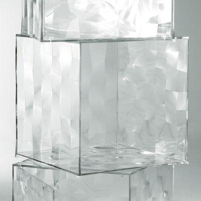 Rangement Optic sans porte - Kartell transparent en matière plastique