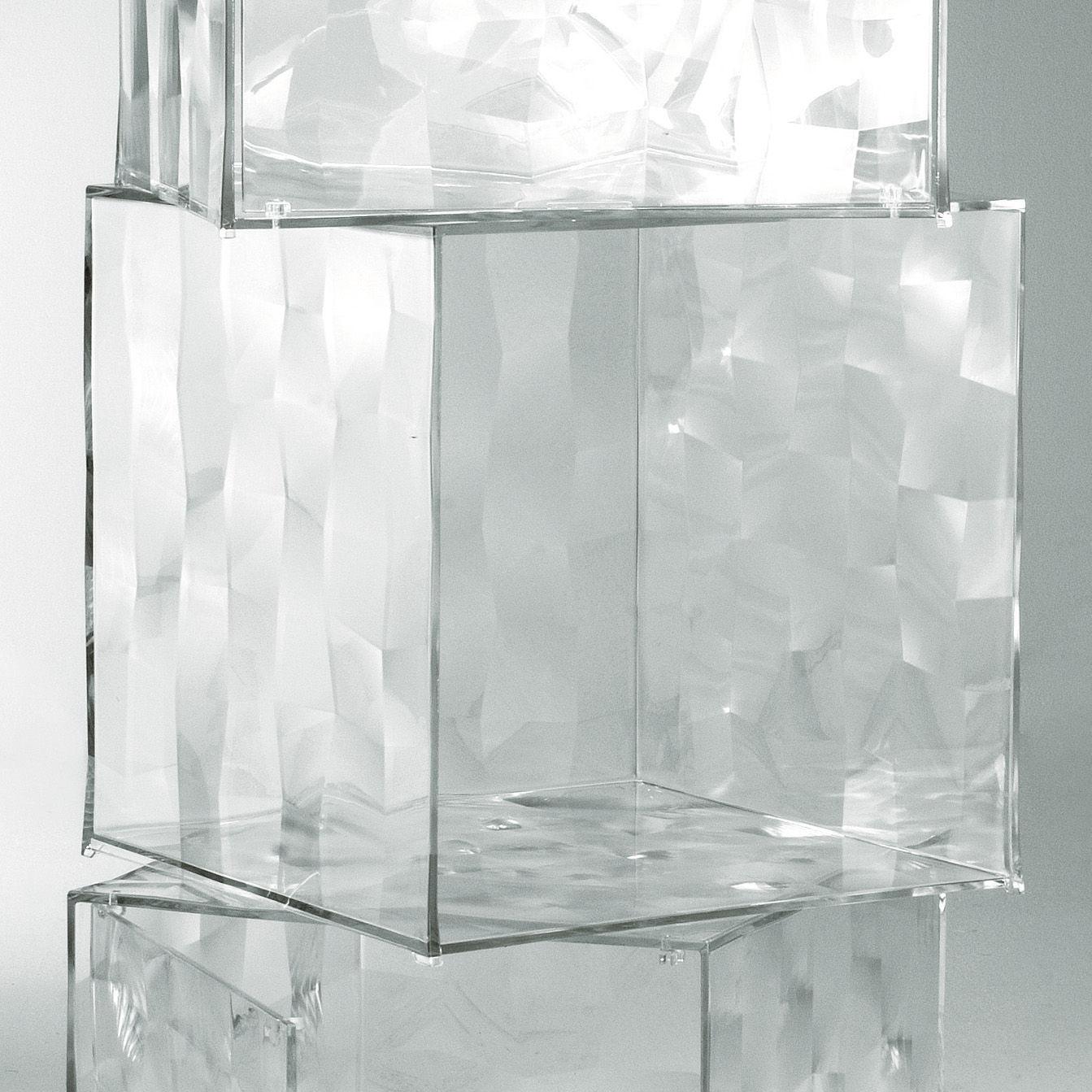 Mobilier - Tables basses - Rangement Optic sans porte - Kartell - Cristal - PMMA