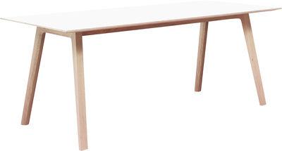 Vitrine DE - Vitrine Home DE - Bella Desk rechteckiger Tisch /Tisch - 240 x 90 cm - Hay - Weiß - Laminat, massive Eiche