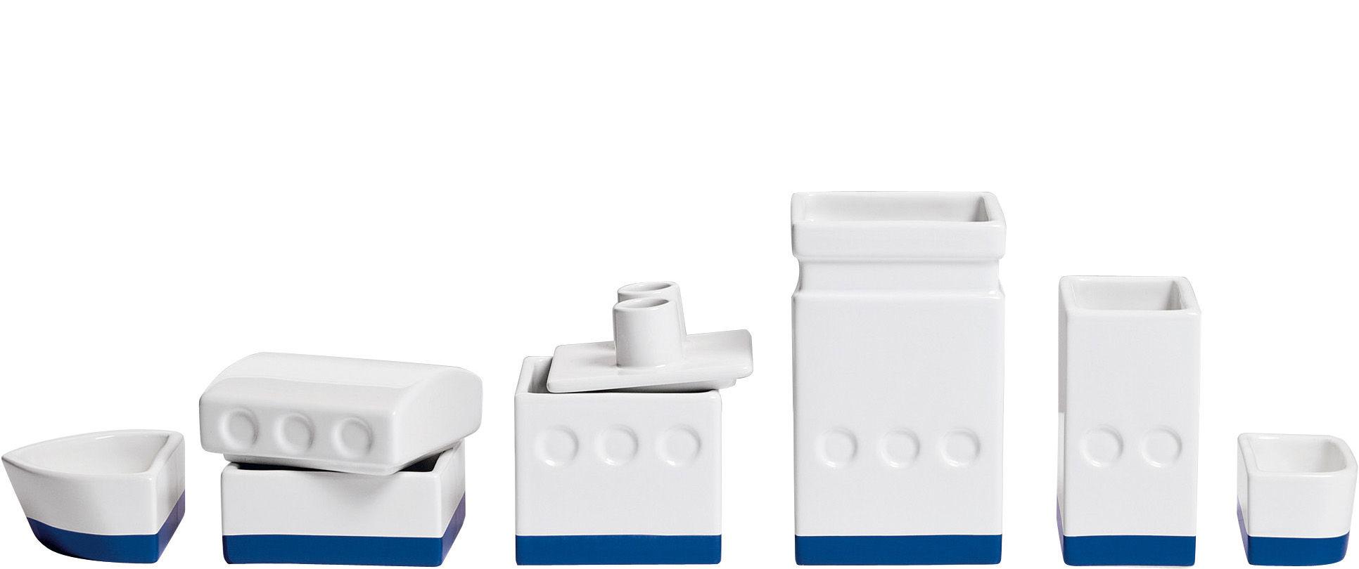 Interni - Ufficio - Scatola Le bateau - /Portaoggetti per scrivania - L 33 cm di Seletti - Bianco - Porcellana