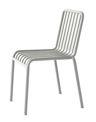Arredamento - Sedie  - Sedia Palissade / R & E Bouroullec - Hay - Grigio chiaro - In acciaio elettro- zincato, Peinture époxy