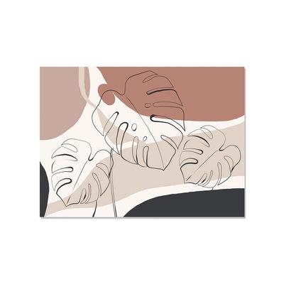 Arts de la table - Nappes, serviettes et sets - Set de table Alicante / Vinyle - 33 x 45 cm - PÔDEVACHE - Floral abstrait / Terracotta - Vinyle