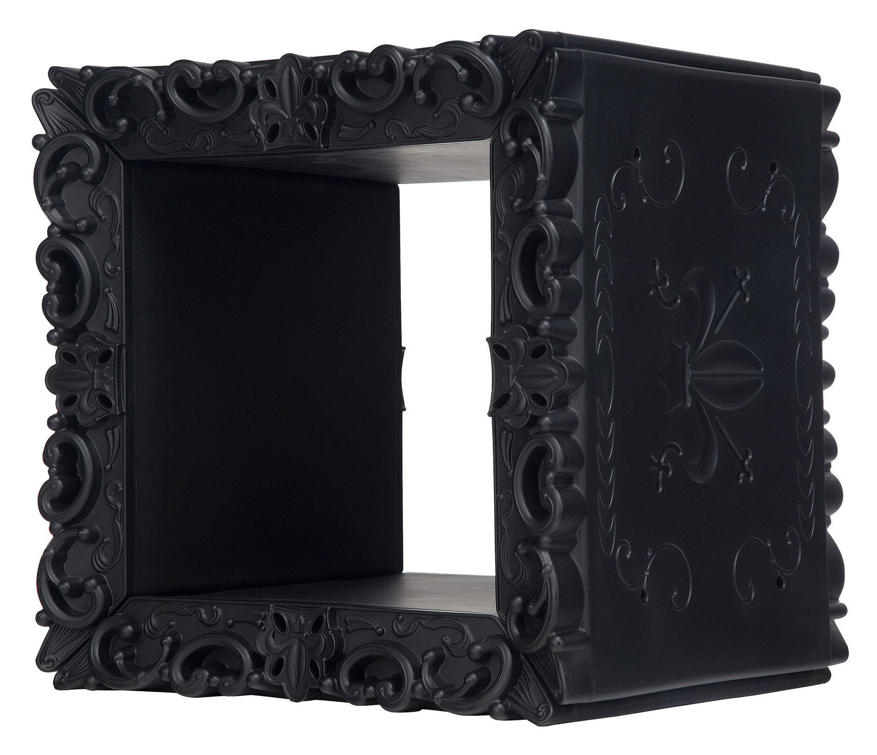Furniture - Bookcases & Bookshelves - Jocker of Love Shelf - Modular cube - 52 x 46 cm by Design of Love by Slide - Black - roto-moulded polyhene