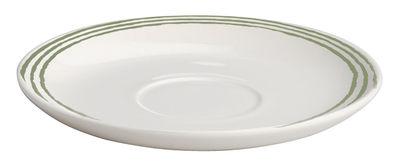 Soucoupe Acquerello / pour tasse à moka All-time - A di Alessi blanc,vert en céramique