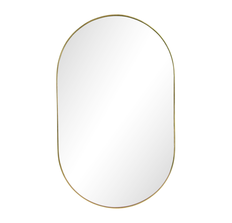 Interni - Specchi - Specchio murale Gold Round - / L 26 x H 43 cm di & klevering - Rotondo / Ottone - Metallo, Vetro