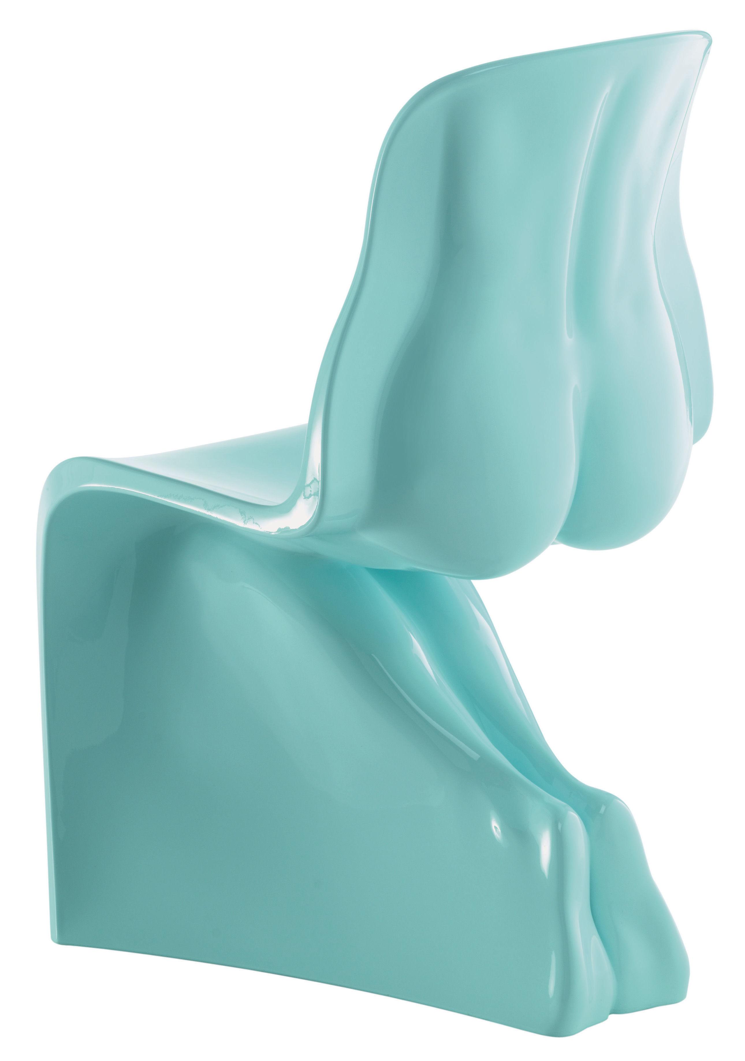 Möbel - Stühle  - Her Stuhl lackiert - Casamania - Himmelblau - Polyäthylen
