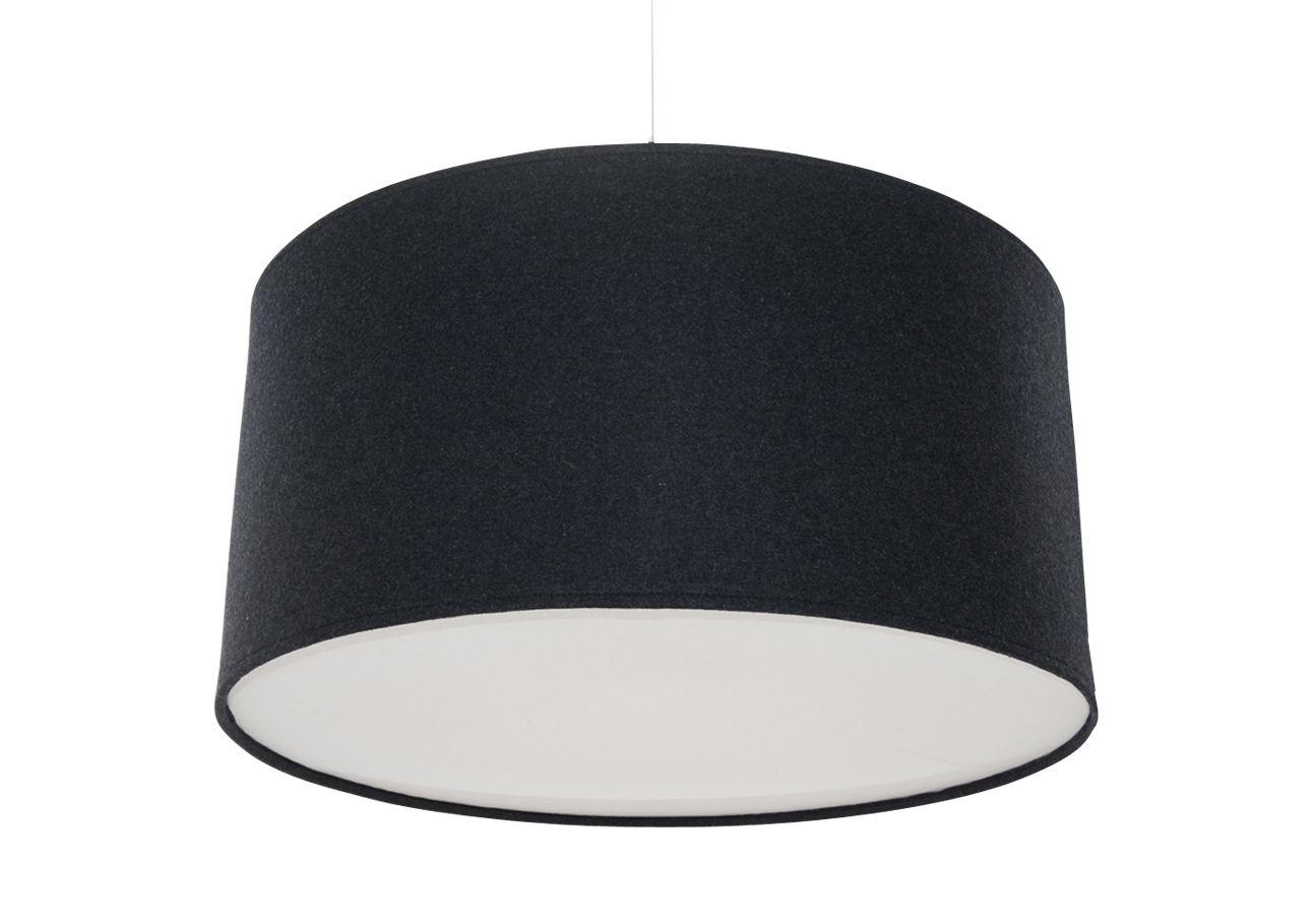 Luminaire - Suspensions - Suspension Kobe Large Ø 60 cm - Innermost - Charbon de bois - Coton, Feutre d'acrylique, Laine