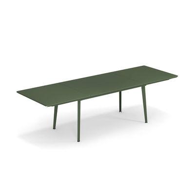 Table à rallonge Plus4 / Acier - 160 à 270 cm - Emu vert en métal