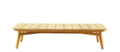 Mobilier - Tables basses - Table basse Knit / 135 x 75 cm - Ethimo - Teck naturel - Teck massif naturel