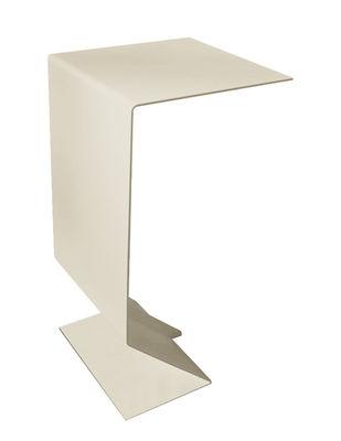 Mobilier - Tables basses - Table d'appoint Mark / L 27 x H 51 cm - Acier - Moroso - Sable - Acier verni