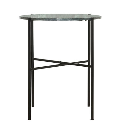 Mobilier - Tables basses - Table d'appoint The Green / Ø 45 x H 55 cm - Marbre vert - House Doctor - Marbre vert & noir - Fer peint, Marbre