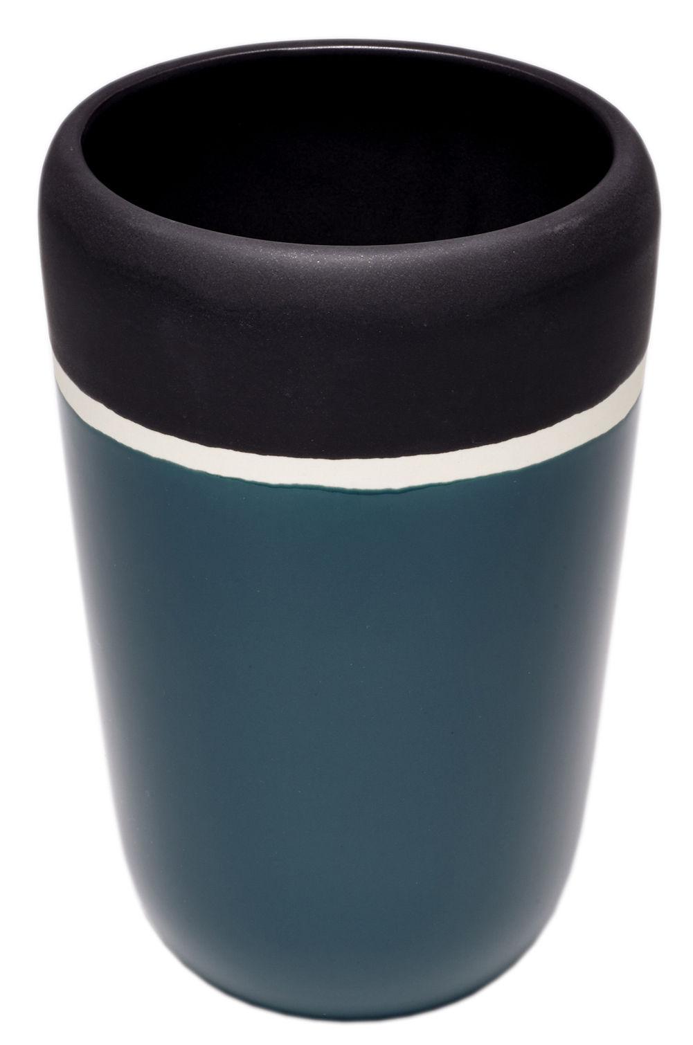 "Dekoration - Vasen - Sicilia Vase / H 20 cm - Maison Sarah Lavoine - Blau ""Sarah"" - emaillierte Keramik"
