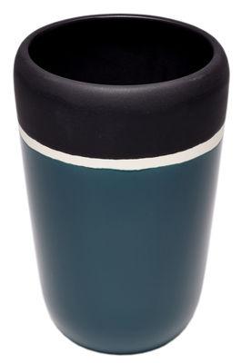 Decoration - Vases - Sicilia Vase - / H 20 cm by Maison Sarah Lavoine - Sarah blue - Glazed ceramic