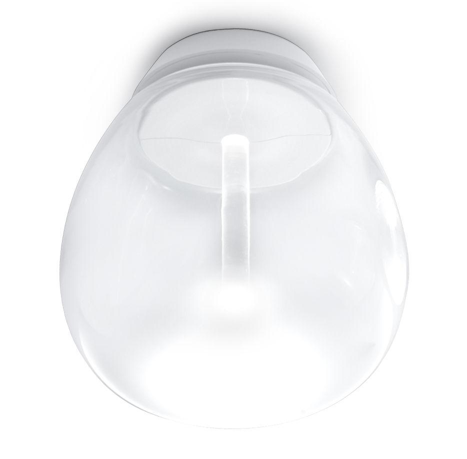 Lighting - Wall Lights - Empatia Wall light by Artemide - Ø 26 cm / Transparent & white - Blown glass, Methacrylate, Varnished aluminium