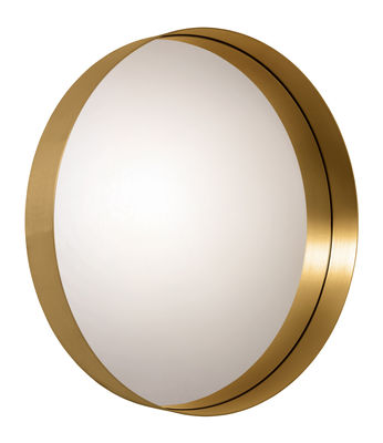 Decoration - Mirrors - Cypris Wall mirror - / Ø 75 cm - Brass by ClassiCon - Gold / Silver mirror - Glass, Solid brass