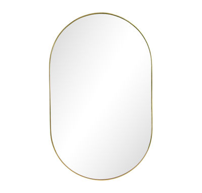 Decoration - Mirrors - Gold Round Wall mirror - / L 26 x H 43 cm by & klevering - Round / Brass - Glass, Metal