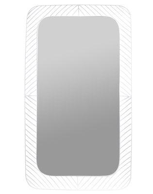 Decoration - Mirrors - Stilk Wall mirror - / Rectangular - 91 x 51 cm by Serax - White - Lacquered metal, Mirror