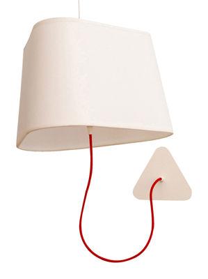 Applique avec prise Grand Nuage / L 43 cm / fixation au plafond - Designheure blanc en matière plastique