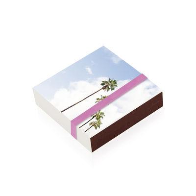 Boîte d'allumettes Palmiers / 10 x 10 cm - Image Republic multicolore en papier