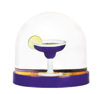 Boule à neige / Cocktail - & klevering blanc,violet en matière plastique