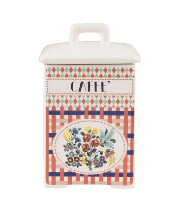 Kitchenware - Kitchen Storage Jars - Caffè Box - / H 15.4 cm - China by Bitossi Home - Caffè / Multicoloured - China