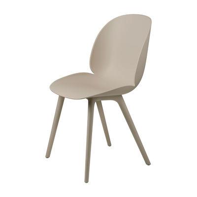 Mobilier - Chaises, fauteuils de salle à manger - Chaise Beetle OUTDOOR / Polypropylène - Gubi - New beige - Polypropylène