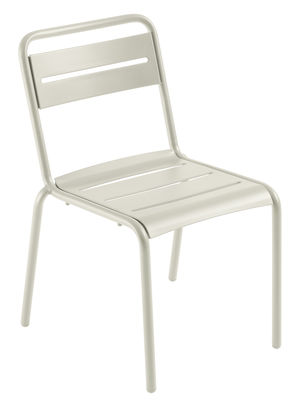Chaise empilable Star / Métal - Emu blanc mat en métal