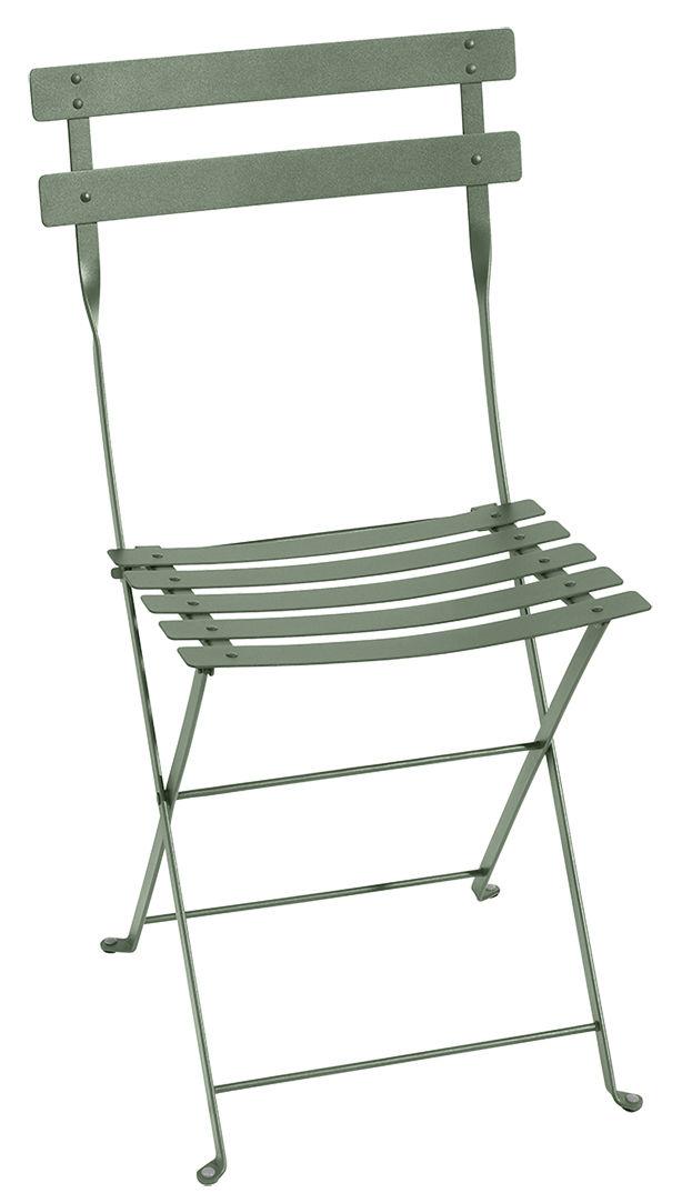Mobilier - Chaises, fauteuils de salle à manger - Chaise pliante Bistro / Métal - Fermob - Cactus - Acier laqué