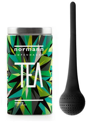 Arts de la table - Thé et café - Coffret / Boule à thé & Thé vert - Normann Copenhagen - Boule noire / Thé Vert - Carton, Métal, Silicone